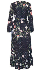 Miles Spotty Floral Wrap Dress