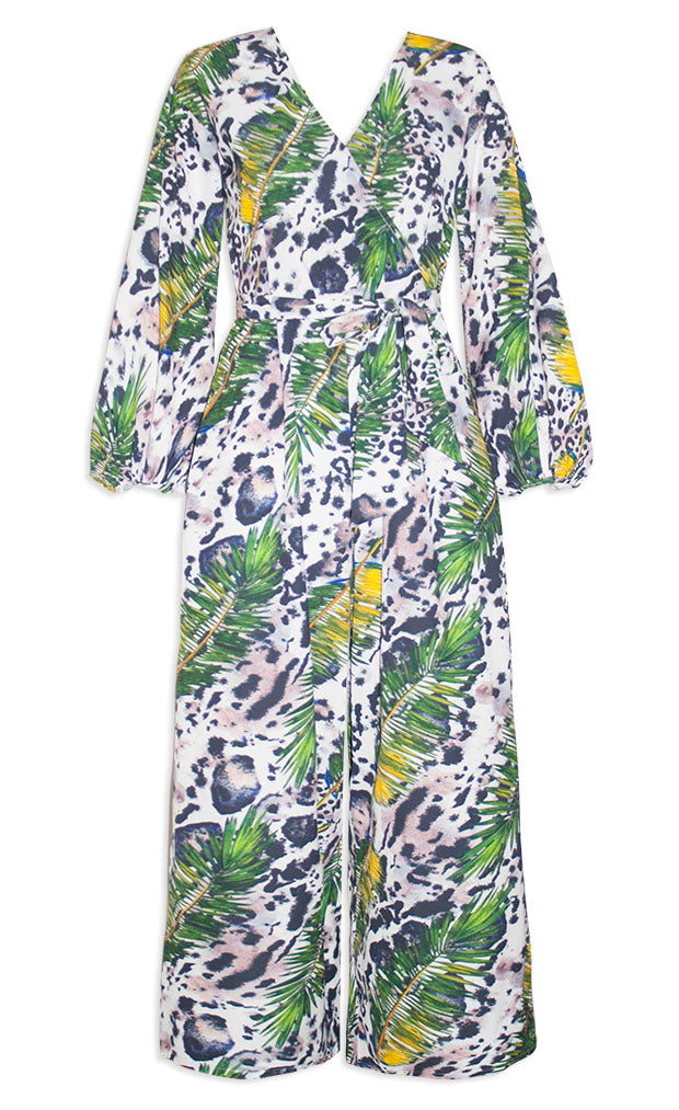 53bbb693bb9 Tokyo Green Print Jumpsuit – Little Party Dress
