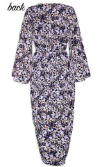 Hayley Black Floral Dress