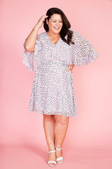 Lisa Pink Leopard Dress