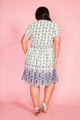 Believe White Print Dress