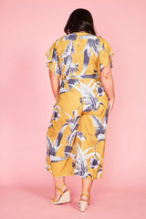 Venice Mustard Tropical Jumpsuit
