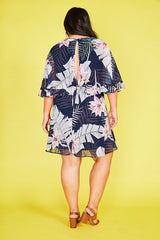 Lisa Navy Tropical Dress