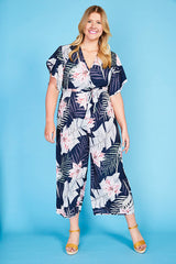 Venice Navy Tropical Jumpsuit