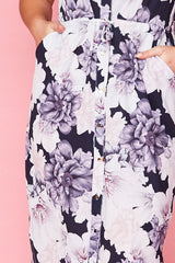 Chantelle Navy Floral Shirt Dress