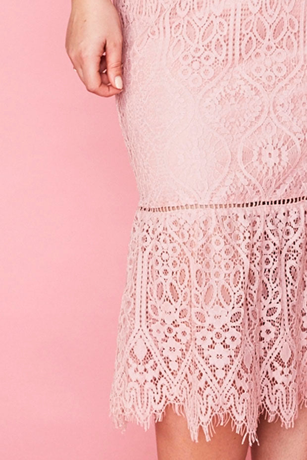 Tonight Pink Lace Dress