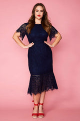 Tonight Navy Lace Dress
