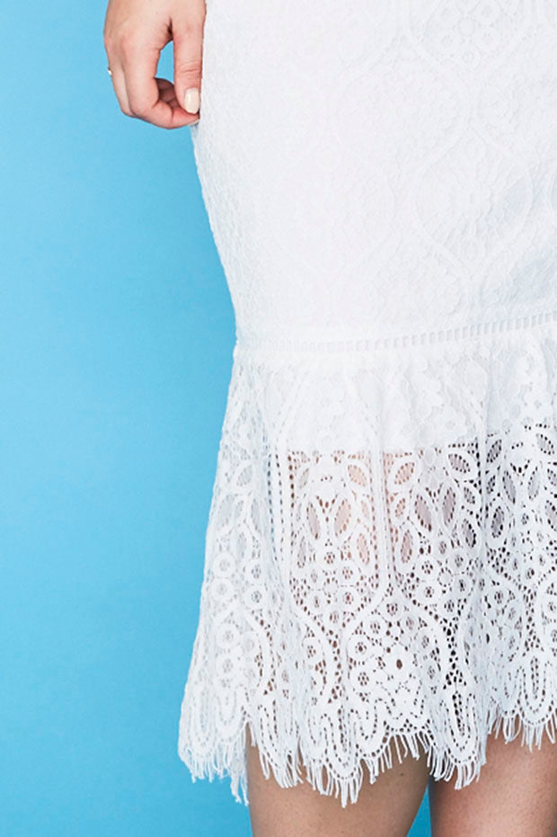 Tonight White Lace Dress
