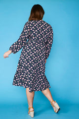Lindsey Navy Floral Dress