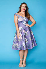 Royal Purple Floral Dress