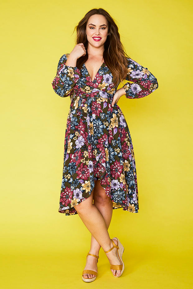 Lindsey Green Floral Dress