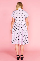 Frankie Lilac Polka Dot Dress