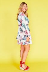 Verity White Floral Dress