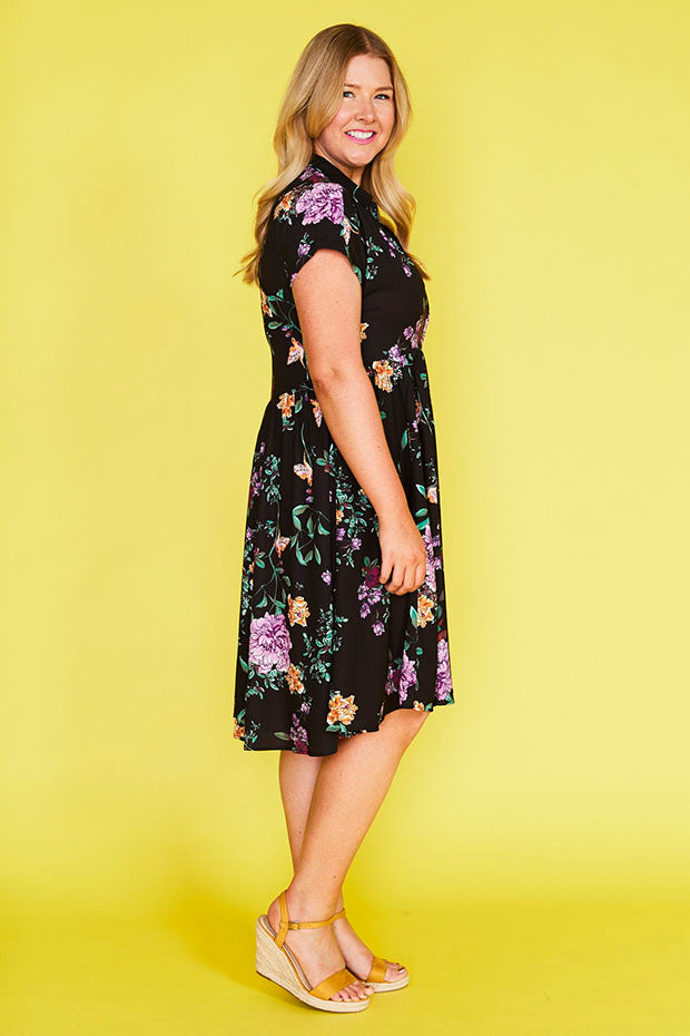 Frankie Black Floral Dress