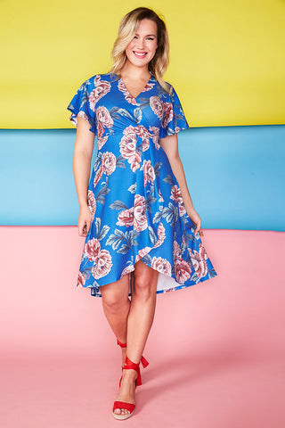 Queen Blue Floral Dress