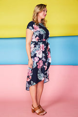 Soul Mate Tropical Navy Dress