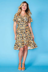 Queen Yellow Leopard Dress