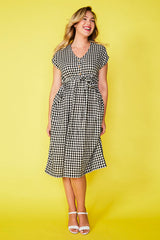 Georgie Black Gingham Dress