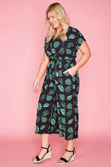 Tasty Leaf Print Jumpsuit