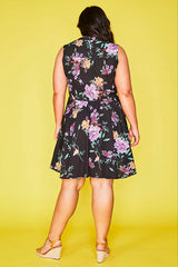 Nikki Black Floral Dress