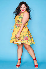 Nikki Yellow Floral Dress