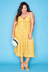 Lola Mustard Polka Dot Dress