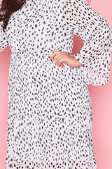 Dream State Dalmatian Print Dress