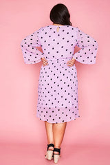 Dream State Lilac Polka Dot Dress