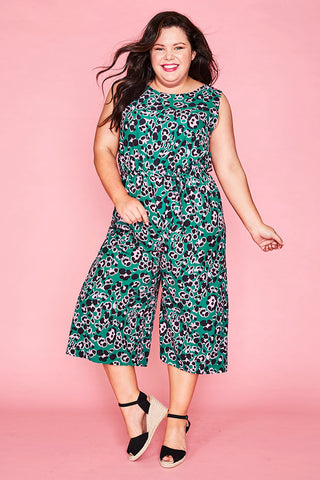 Bailey Green Leopard Jumpsuit