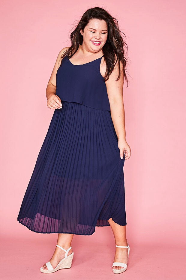 Barbara Navy Dress