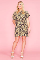 Frances Leopard Print Shirt Dress