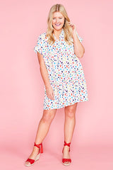 Frances Confetti Print Shirt Dress