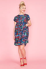 Bam Paparazzi Print Dress