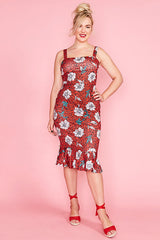 Lucinda Red Leopard Dress