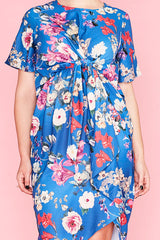 City Girl Blue Floral Dress