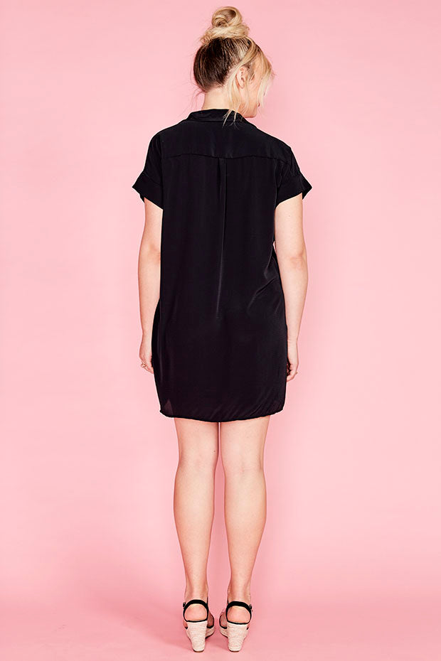 Frances Black Shirt Dress
