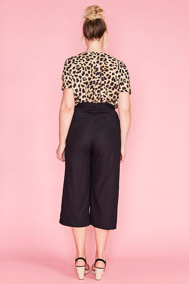 Shelby Black Cropped Pants