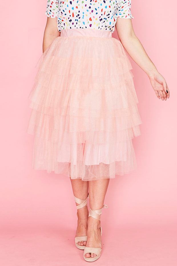 Broadway Pink Tulle Skirt