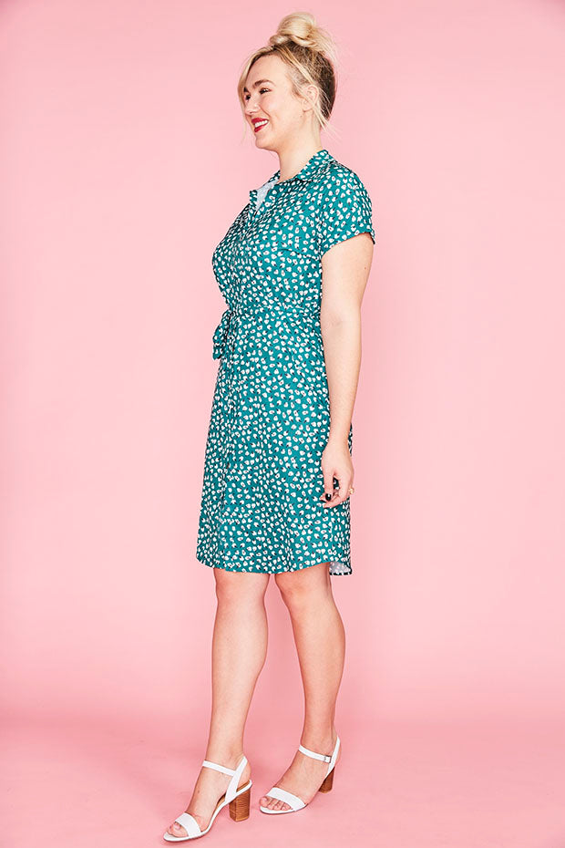 Tessa Green Floral Dress