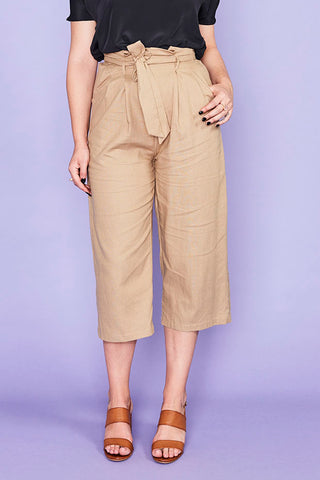 Shelby Mushroom Cropped Pants