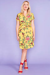 Tessa Yellow Floral Dress