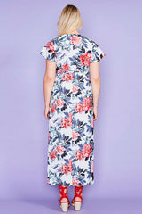 Gina Mint Floral Maxi Dress