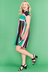 Bam Pink Stripe Dress