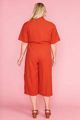 Lopez Rust Jumpsuit
