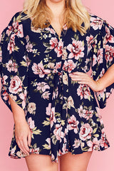 Alyssa Navy Floral Playsuit