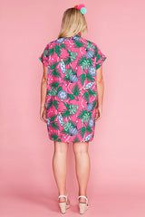 Frances Xmas Baubles Pink Shirt Dress