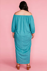 Sunny Teal Maxi Dress