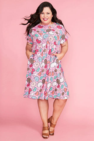 Bam Donut Print Dress