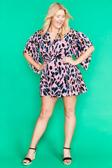 Alyssa Pink Animal Playsuit