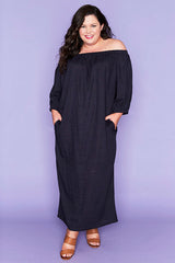 Sunny Navy Maxi Dress
